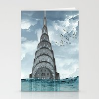 Above The Water Line Stationery Cards