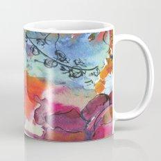 Abstract floral watercolour Mug