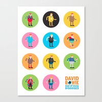 David Bowie Man of Many Disguises Canvas Print
