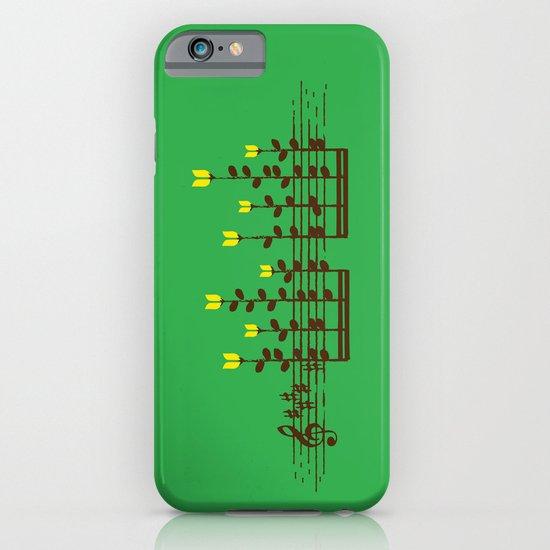Music notes garden iPhone & iPod Case