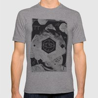 Moon Eye Mens Fitted Tee Athletic Grey SMALL