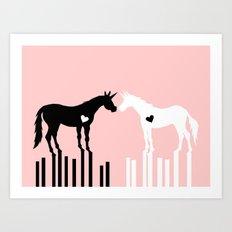 Love Connects Unicorn Art Print