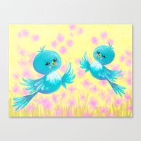 Bluebirds On My Mind Canvas Print