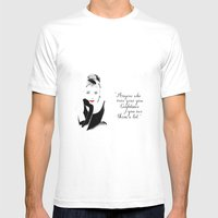 Breakfast at Tiffany's Mens Fitted Tee White SMALL