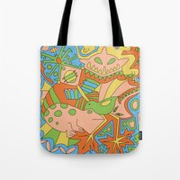 Abstract Animals Tote Bag