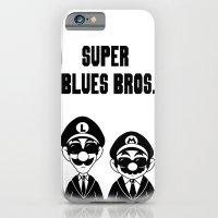 Super Blues Bros. (Black and White) iPhone 6 Slim Case
