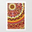 Mandala Aztec Pattern 4 Art Print