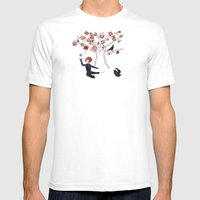 Memory Tree Mens Fitted Tee White SMALL