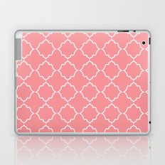 Moroccan White and Coral Laptop & iPad Skin