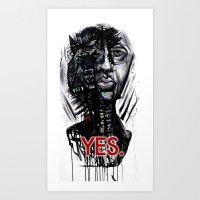 YES wolf Art Print