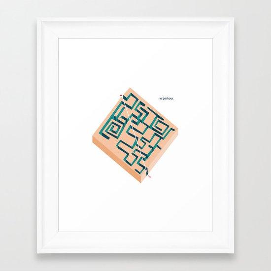 Le Parkour Framed Art Print
