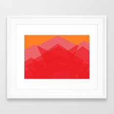 Colorful Red Abstract Mountain Framed Art Print