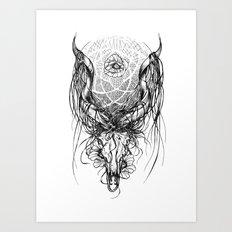Venus Skull Art Print