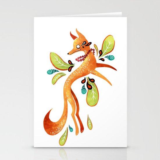 Autumn Fox Stationery Card