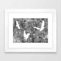 Ecotone (black & White) Framed Art Print