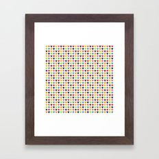Watercolor Heart Pattern Framed Art Print