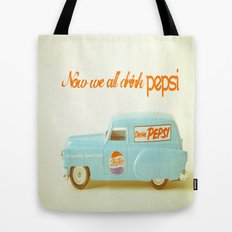 Now we all drink Pepsi Tote Bag