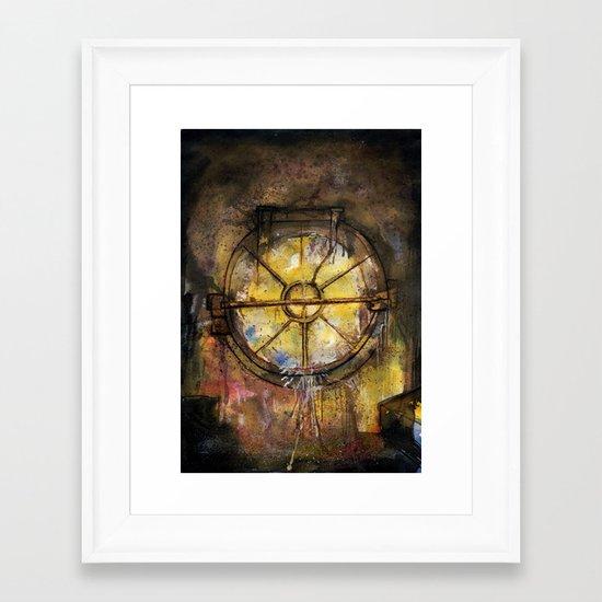 Drain Gate Framed Art Print