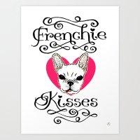 Frenchie Kisses Art Print