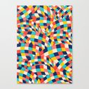 Curved Squares Canvas Print