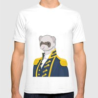 Captain Ferret Mens Fitted Tee White SMALL