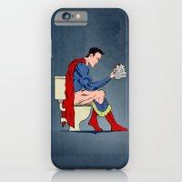 Superhero On Toilet iPhone 6 Slim Case