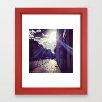 Ray Of Sunshine On The S… Framed Art Print