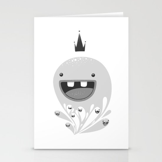 King Lip of the Squiggles Stationery Card