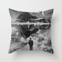 Black & White Collection -- Wandering Throw Pillow