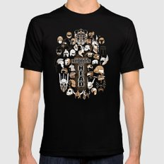 Helmets of fandom - respect the head! Black Mens Fitted Tee SMALL
