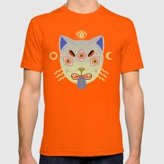 Mystic Cat Mens Fitted Tee Orange SMALL