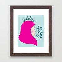 Miss Pink II Framed Art Print