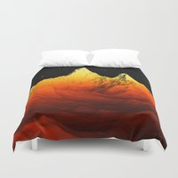 Sci Fi Mountains Landscape Duvet Cover