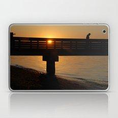 Dock at sunset Laptop & iPad Skin