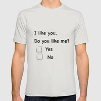 I like you Mens Fitted Tee Silver SMALL