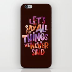 All The Things iPhone & iPod Skin