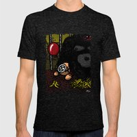 La cage du gorille Mens Fitted Tee Tri-Black SMALL