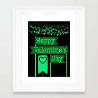 Banner of Love: Happy Valentine's Day decor Framed Art Print