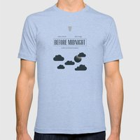 Before Midnight Mens Fitted Tee Tri-Blue SMALL