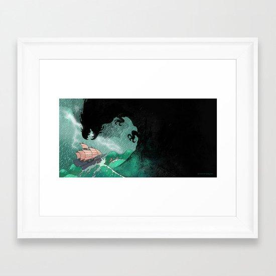 01: The Monster attacks Framed Art Print
