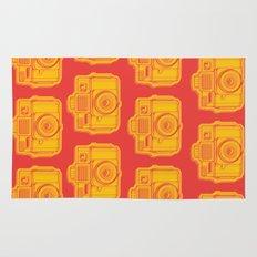 I Still Shoot Film Holga Logo - Reversed Yellow & Red Rug