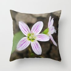 Forest Flowers Throw Pillow