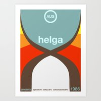 Helga Single Hop Art Print