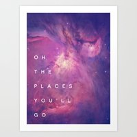 The Places You'll Go II Art Print