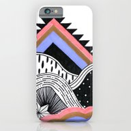 Neon Coral Landscape iPhone 6 Slim Case