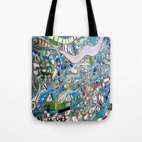Venice Beach Bathroom Art Tote Bag