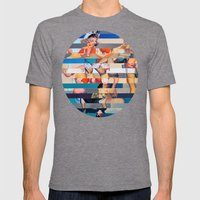Glitch Pin-Up: Olivia Mens Fitted Tee Tri-Grey SMALL