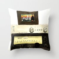 Stereo stack Throw Pillow