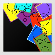 Tumbling Shapes Canvas Print