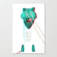 Wolf With F**king lasers Canvas Print